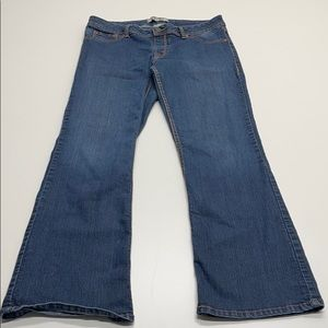 17/21 Womens Large Bootcut Blue Jeans